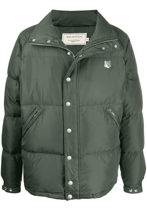 Maison Kitsuné Fox Head down jacket - Green