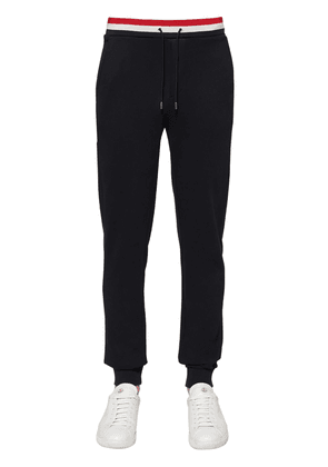 Tricolor Ribbed Cotton Jersey Sweatpants