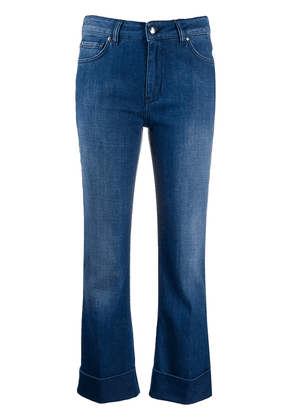 Fay cropped flared leg jeans - Blue