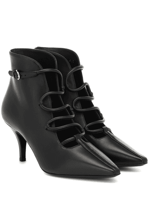 Gancini Snake leather ankle boots
