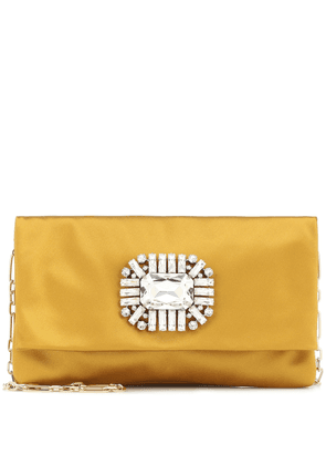 Titania embellished satin clutch