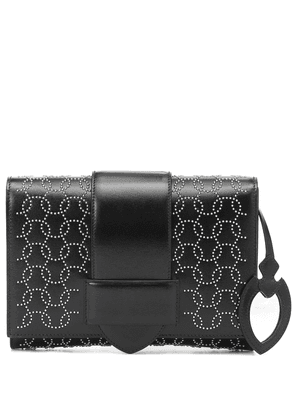 Simone leather clutch