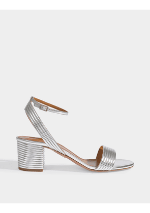 Sundance Sandals 50 in Silver Laminated Leather