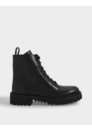 Combat Boots 35mm in Black Leather