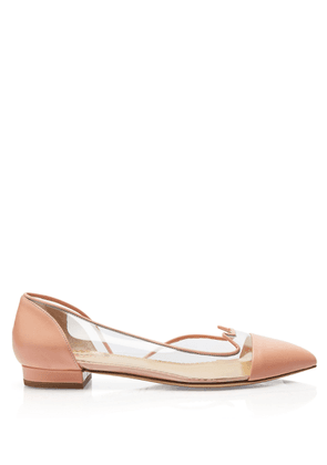 Charlotte Olympia Sale Women - D'ORSAY KITTEN FLATS PALE PINK Smooth Nappa & Vinyl 34