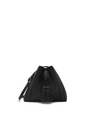 Mulberry Small Millie Tote in Black Heavy Grain