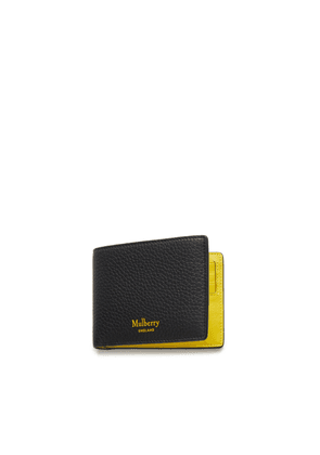 Mulberry 8 Card Wallet in Black and Yellow