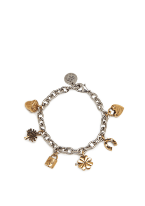 Mulberry Lucky Charm Bracelet in Gold and Silver Brass