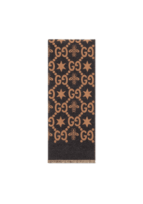 Bees and stars GG jacquard scarf
