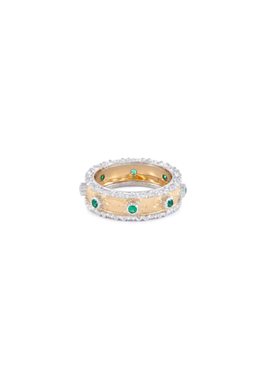'Eternelle' emerald 18k yellow gold ring