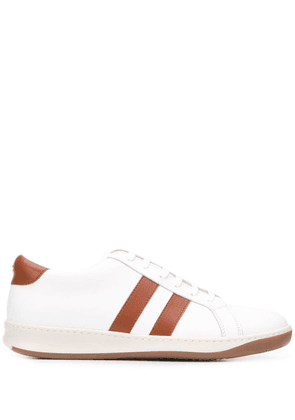 Eleventy striped low-top sneakers - White