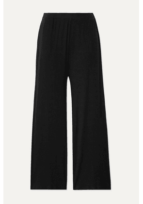 Skin - Noelle Ribbed Stretch-pima Cotton And Modal-blend Pajama Pants - Black