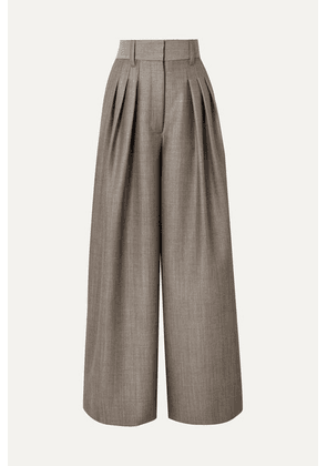Runway Marc Jacobs - Wool And Mohair-blend Wide Leg Pants - Gray