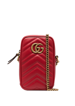 Gucci Marmont crossbody phone bag - Red