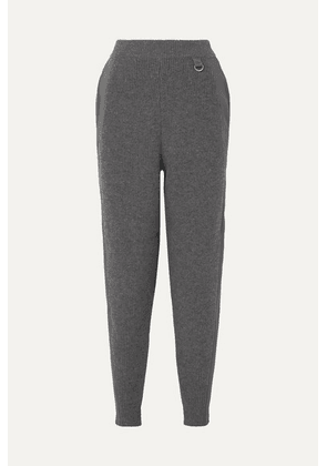 Stella McCartney - Cotton-trimmed Wool Tapered Pants - Gray
