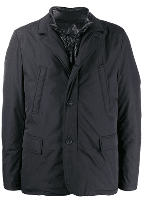 Canali slim-fit padded coat - Blue