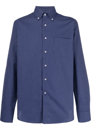 Canali long sleeved checked shirt - Blue