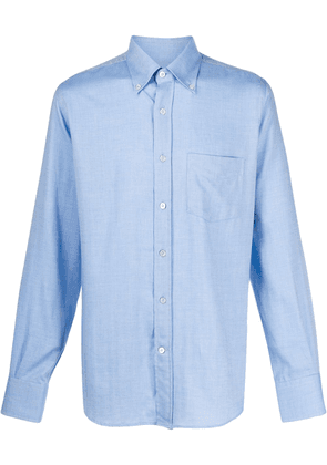 Canali striped long sleeve shirt - Blue