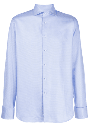Canali geometric pattern shirt - Blue