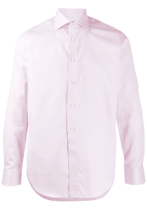 Canali relaxed fit long sleeved shirt - PINK
