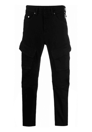 Neil Barrett slim-fit cargo jeans - Black