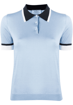 Prada slim polo shirt - Blue