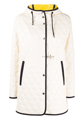 Fay quilted hooded jacket - White