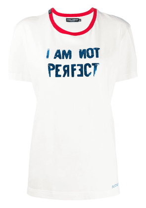 Dolce & Gabbana I Am Not Perfect T-shirt - White