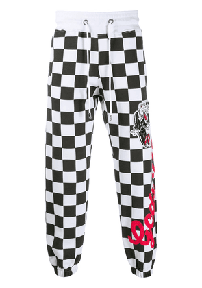 Gcds checkered track trousers - White