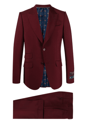 Gucci slim-fit two-piece suit - Red