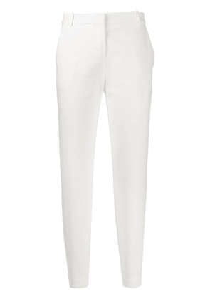 Pinko slim-fit cropped trousers - White