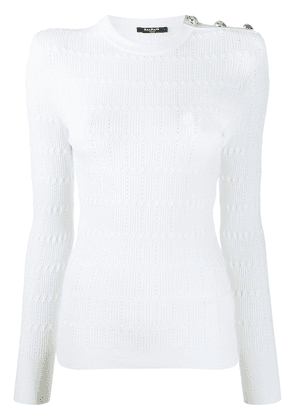 Balmain diamond knit jumper - White