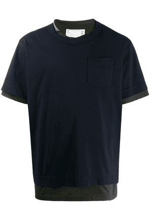 Sacai pack of two zip-embellished T-shirt - Blue