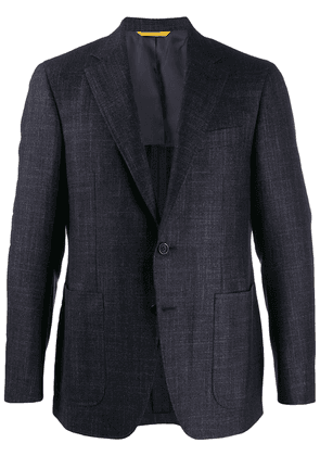 Canali fitted single-breasted blazer - Blue