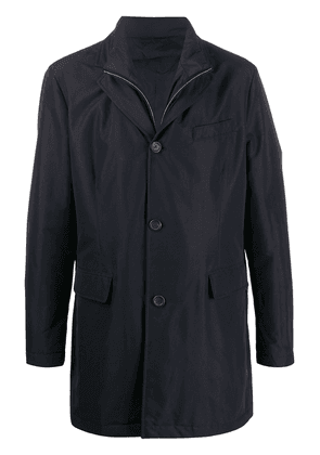 Canali layered single breasted coat - Blue
