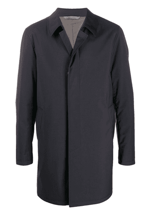 Canali single breasted trench coat - Blue