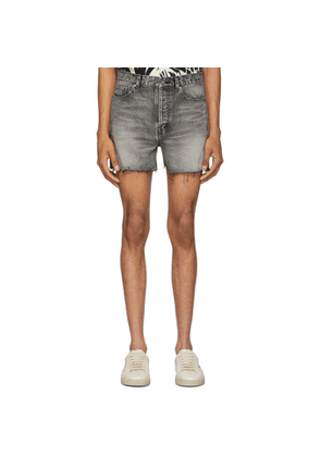 Saint Laurent Black Denim Shorts