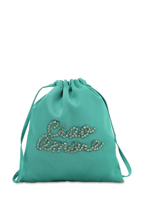 Embellished Satin Pouch