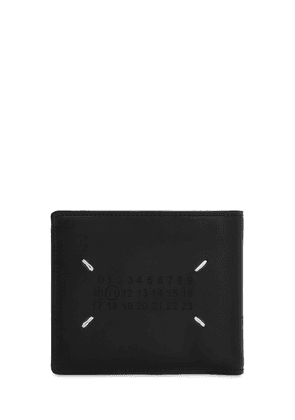 Perforated Logo Leather Billfold Wallet