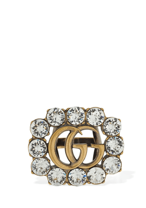 Gg Marmont Crystal Thick Ring