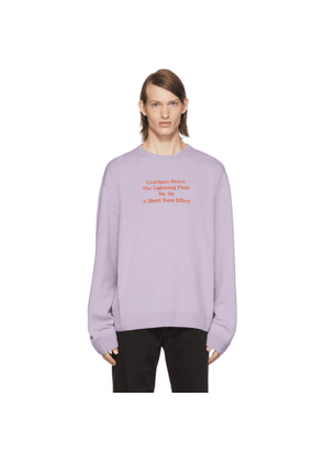 Raf Simons Purple Merino Giordano Bruno Sweater