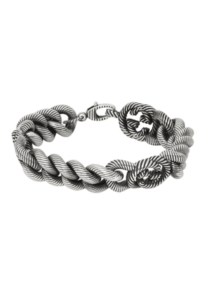 Gucci Silver Triple Interlocking G Bracelet