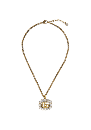 Gucci Gold Crystal GG Marmont Necklace