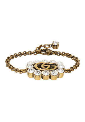 Gucci Gold Crystal GG Marmont Bracelet