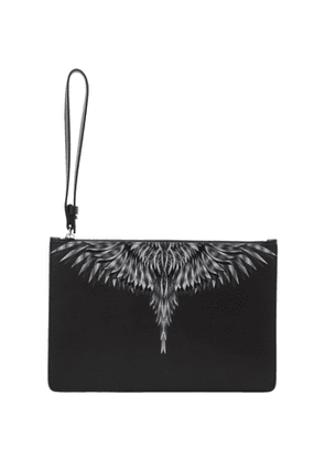 Marcelo Burlon County of Milan Black and White Sharp Wings Pouch