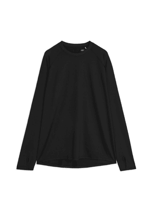 Running Long Sleeve T-Shirt - Black