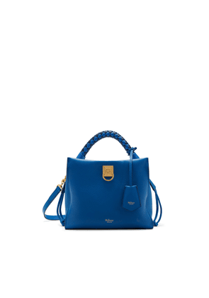 Mulberry Small Iris in Porcelain Blue Heavy Grain and Silky Calf Porcelain Blue - Midnight handle