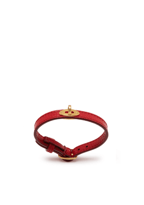 Mulberry Bayswater Leather Bracelet in Scarlet