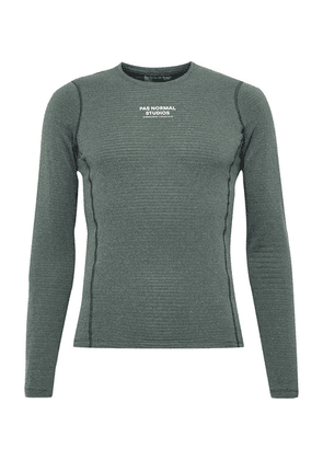 Pas Normal Studios - Control Mélange Polartec Power Wool Cycling Base Layer - Gray green