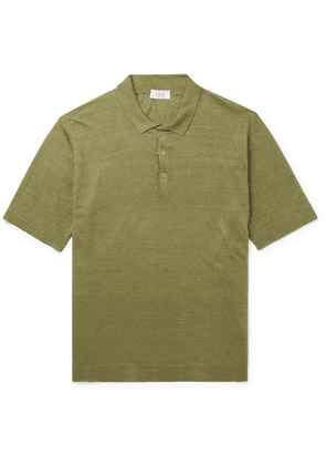 Altea - Linen Polo Shirt - Green